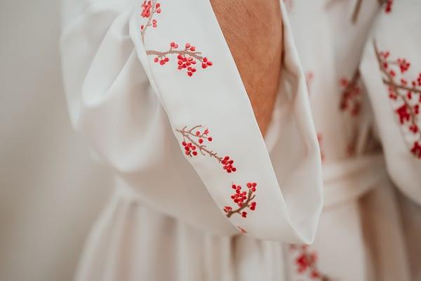 kimono bordado novia