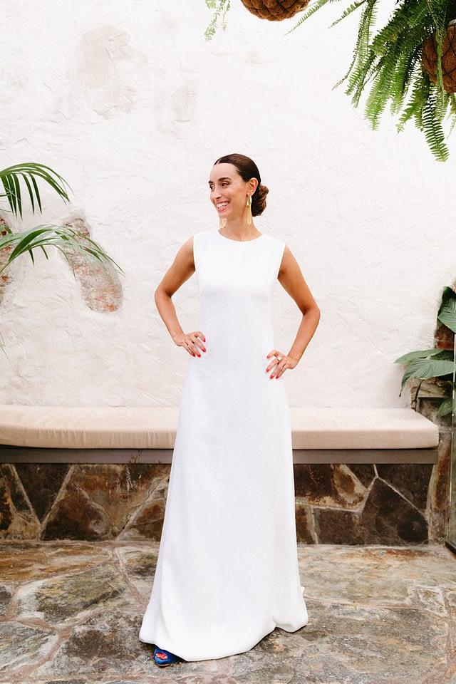 vestido sencillo novia