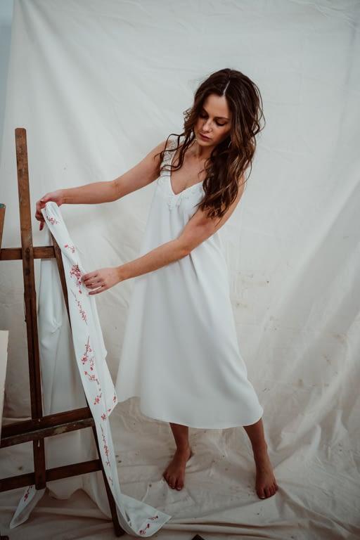 camisón midi de novia