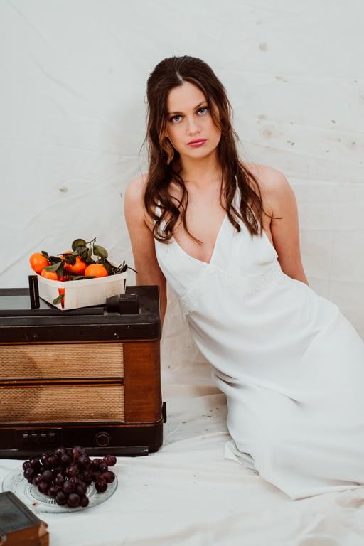 camisón de novia largo