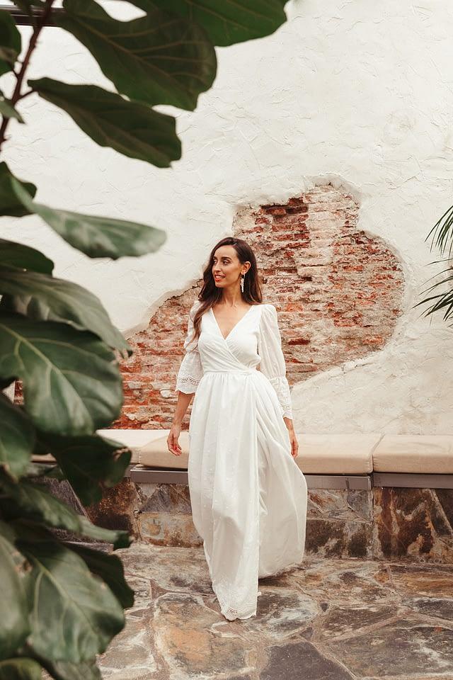 vestido novia boho chic lamarye