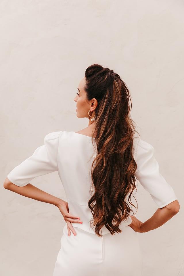 modelo trinidad lamarye blusa y falda novia