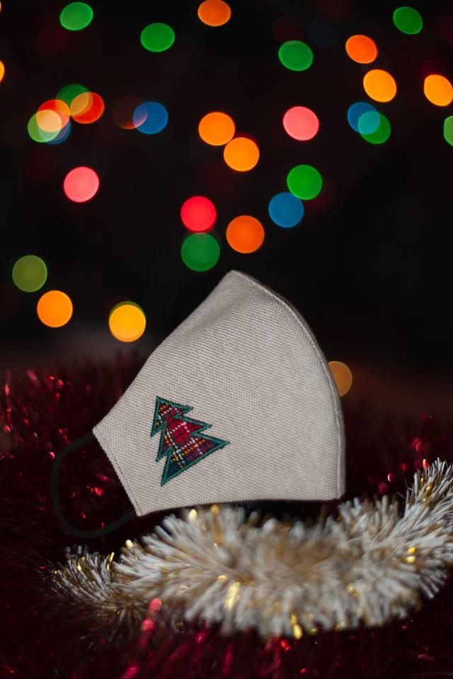 mascarilla árbol de navidad