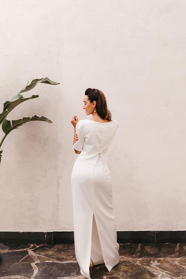 falda y blusa para novias