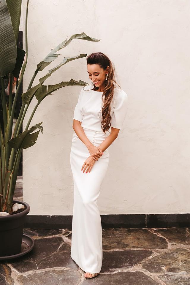 modelo trinidad falda y top novia