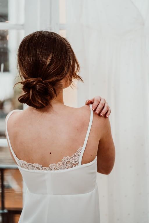 camisón puntilla novia